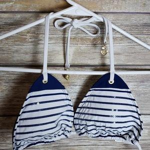 Sperry Nautical Sequin Bikini Top Size M